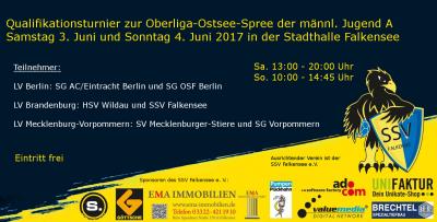 Foto zu Meldung: OOS - Qualifikationsturnier des SSV Falkensee männliche A-Jugend am Pfingstwochenende....Spielplan und Hintergründe