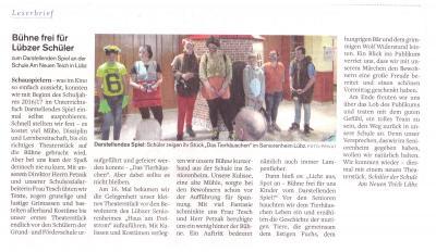 Foto zu Meldung: Bühne frei für Lübzer Schüler