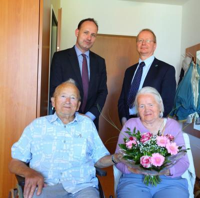 Bild der Meldung: Glückwünsche zur Eisernen Hochzeit