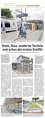 Foto zu Meldung: Stahl, Glas moderne Technik und schon die ersten Graffitti