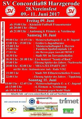 Foto zur Meldung: Herzlich Willkommen zum 28. Vereinsfest vom SV Concordia08 !