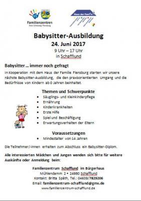 Foto zur Meldung: Babysitter-Ausbildung