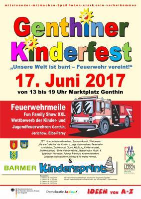Foto zu Meldung: Erstes Genthiner Kinderfest im Zeichen der Jugendfeuerwehren