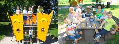 Vorschaubild zur Meldung: Wanderung der Kernzeitkinder zum Abenteuerspielplatz.