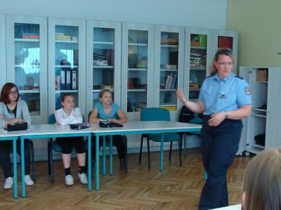 Foto zu Meldung: Präventionsteam an der Grundschule