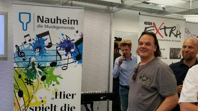 Foto zur Meldung: Die Musikgemeinde beim Hessentag