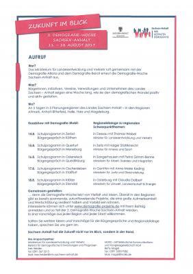 """Vorschaubild zur Meldung: Demografie-Woche """"Zukunft im Blick"""" vom 11. bis 18. August 2017"""