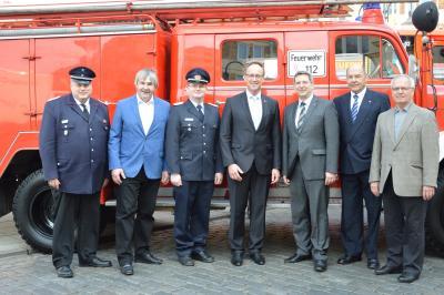 Das Jubiläum 25 Jahre Partnerschaft der Wehren Elmshorn und Wittenberge wurde im Frühjahr bereits in Wittenberge begangen. I Foto: Christiane Schomaker