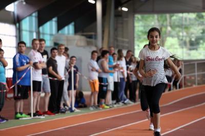Foto zur Meldung: Sportfest und 20-jähriges Jubiläum des Sportteams der drei Düsseldorfer Förderschulen Geistige Entwicklung