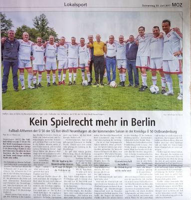Foto zur Meldung: Kein Spielrecht mehr in Berlin