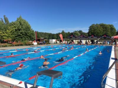 Foto zur Meldung: Tröbitzer 24 h Schwimmen - Streckenjäger stellen Rekord auf