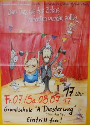 """Foto zur Meldung: Grundschule """"Adolph Diesterweg"""" führt das Zirkusmusicals """"Der Tag, als der Zirkus verboten werden sollte"""" auf"""