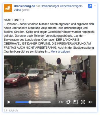 Foto zu Meldung: Nach Starkregen: Lage normalisiert sich weiter