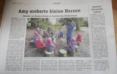 Besuchshund Amy Kindergarten
