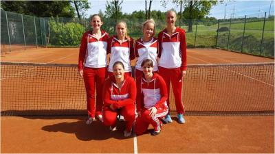 hinten von links: Laura Günster, Anna Aßmann, Louisa Prang, Lena Lauderbach vorne von links: Julia-Maria Münzel, Lucienne Günster, es fehlt Julia Reiner