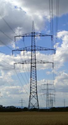 Foto zur Meldung: 380-kV-Leitung Bischofsheim - Pkt. Griesheim, Bl. 4134 - Maststahlsanierung -