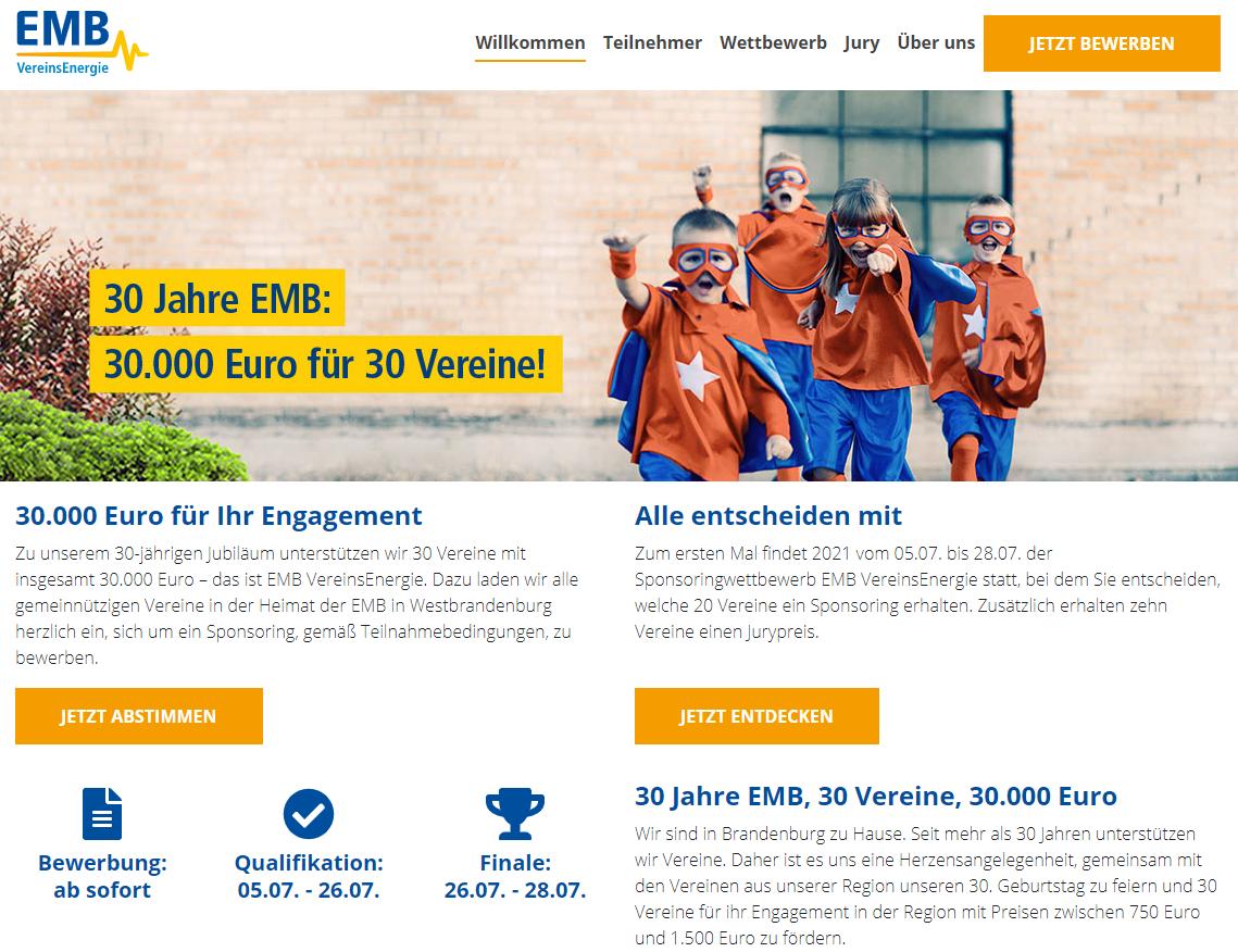 Sponsoringwettbwerb EMB VereinsEnergie
