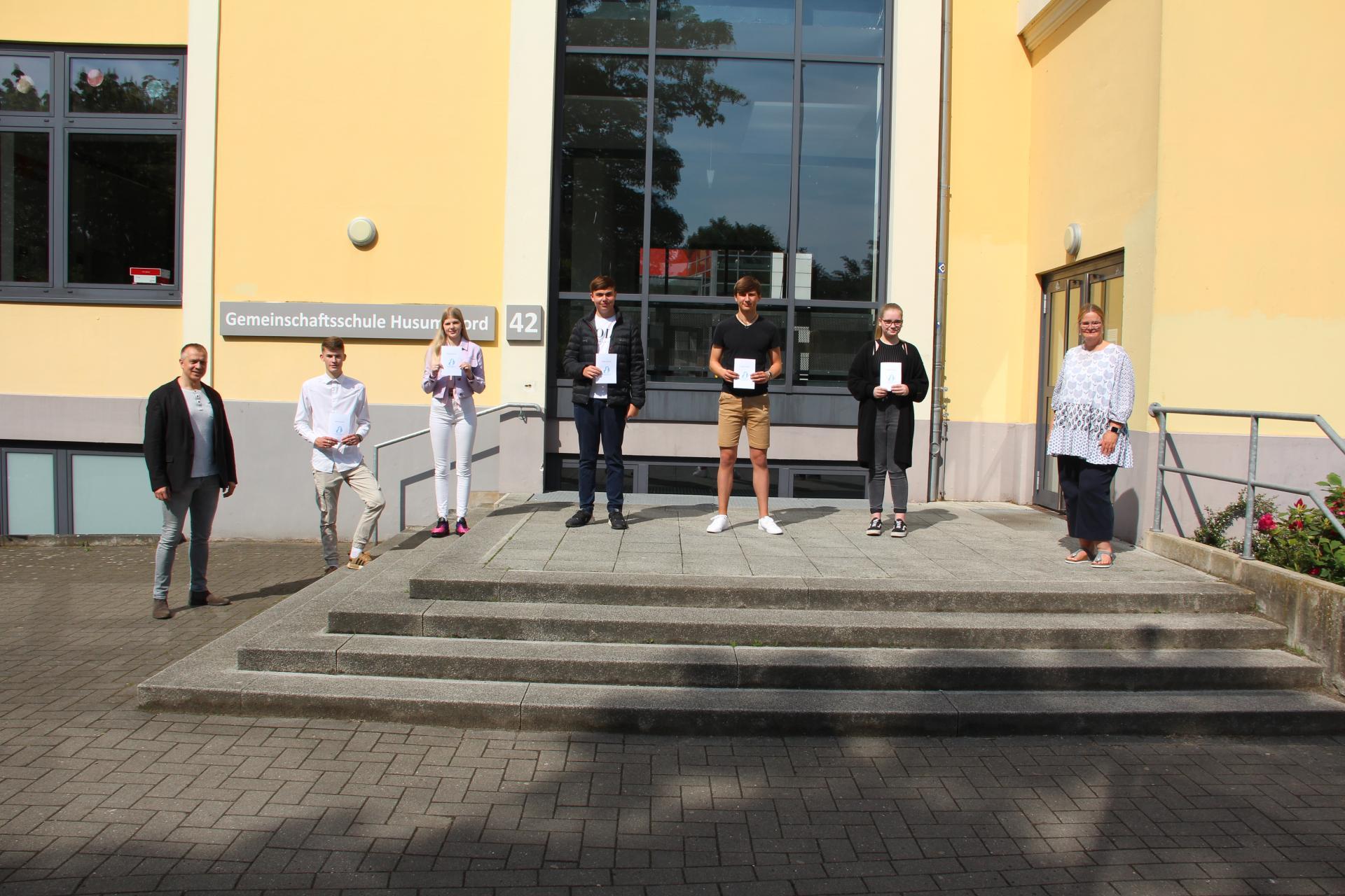 Beste Schüler der Gemeinschaftsschule Husum Nord