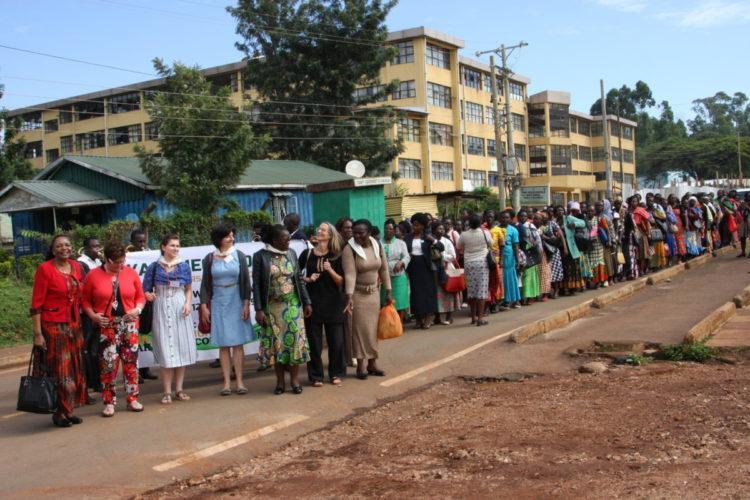 Marsch der WoFaAK-Landfrauen