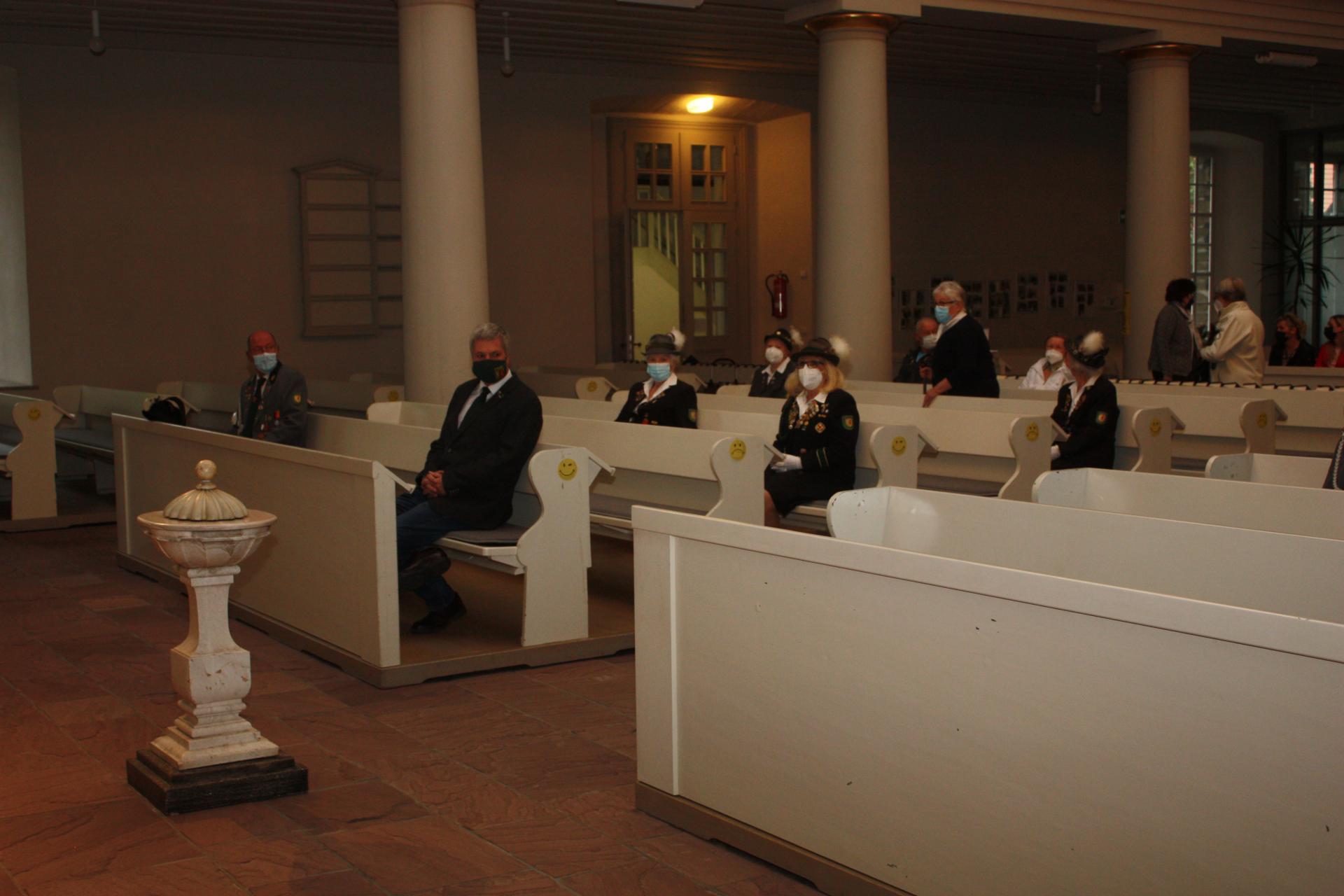 Teilnahme am Pfingstgottesdienst