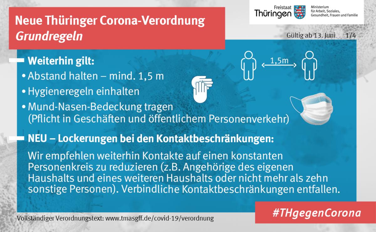 Thüringer Verordnung ab 13. Juni 1. Bild