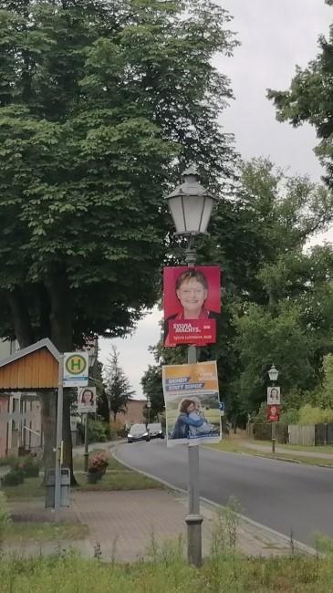Wahlplakate der SPD, der Freien Wähler und der CDU. Foto: Dörthe Ziemer