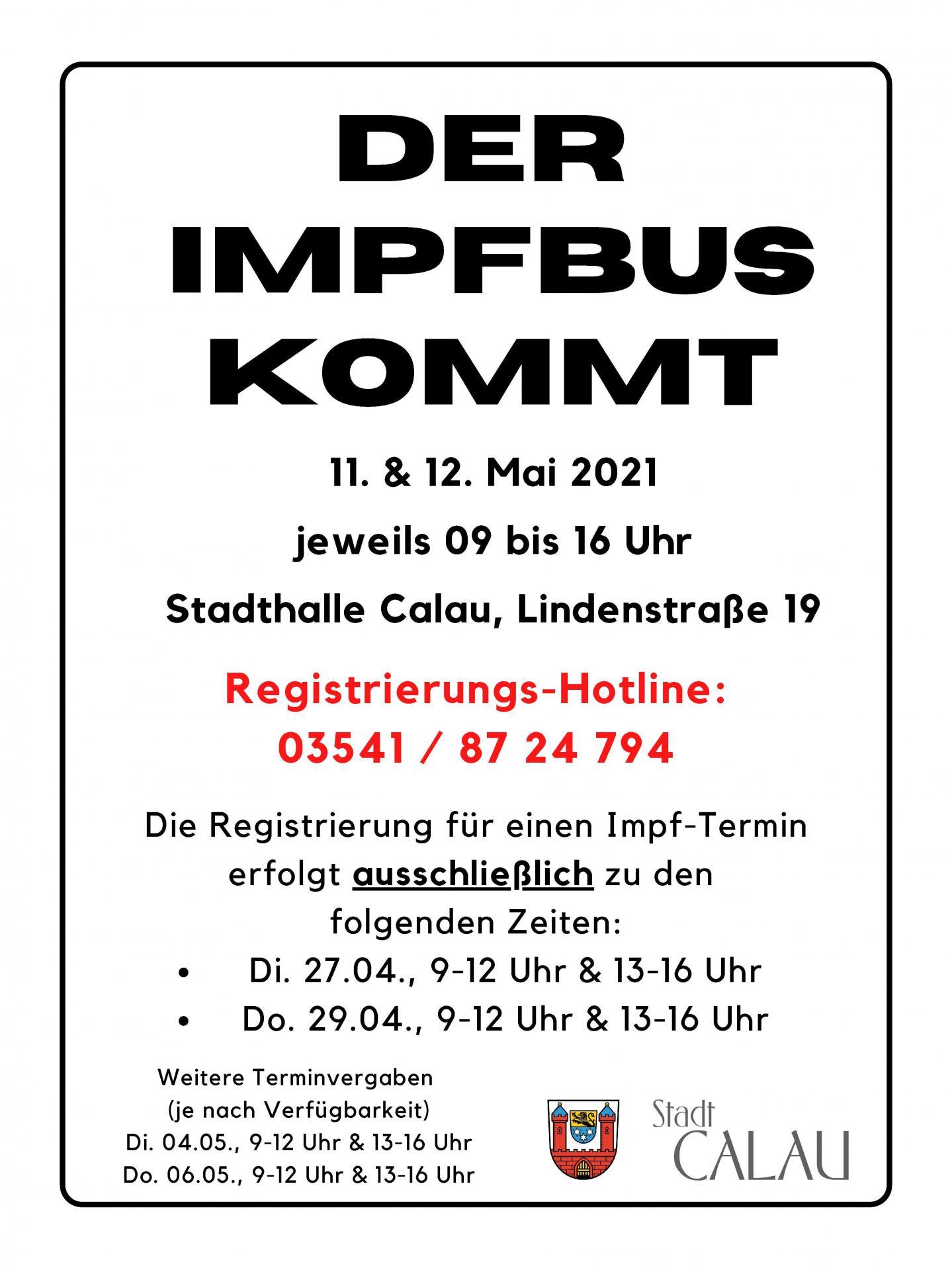 Plakat Impfbus
