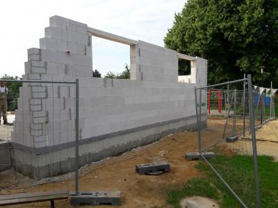 Foto zur Meldung: Anbau an Kita Wilschdorf kommt weiter voran