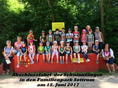"""Foto zur Meldung: Kita """"Kleine Strolche"""", Velpke - Schulanfänger im Familienpark Sottrum"""