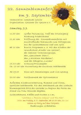 Foto zu Meldung: 22. Sonnenblumenfest am 9.9.2017