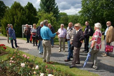 Foto zur Meldung: Rosen über Rosen: Nordostdeutsche Rosenfreunde in Sangerhausen zu Gast