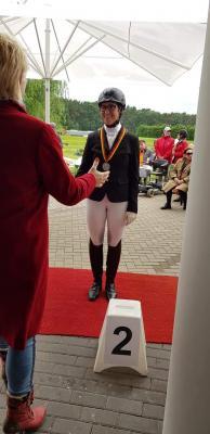 Foto zur Meldung: Borkenerin Anike Hölken ist Deutsche Vize-Meisterin im Behinderten Sport