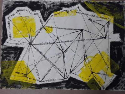 Foto zur Meldung: STADTANSICHTEN: PLÄTZE IN BESITZ NEHMEN: POETISCH – POLITISCH – PARADIESISCH - Ausstellung der 10. Klassen des Helmholtz-Gymnasiums Potsdam in der URANIA