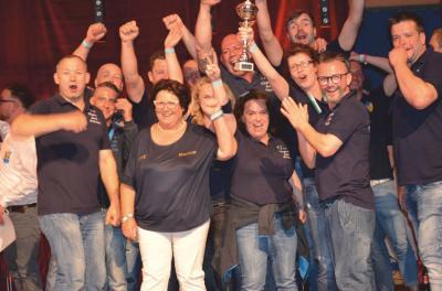 Foto zur Meldung: Männerballett Günthersdorf zum dritten Mal Dritter bei der Ostdeutschen Meisterschaft