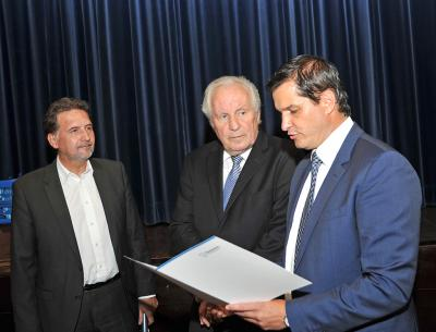Foto zur Meldung: Einführung Herr Bürgermeister Fischer und Erster Beigeordneter Herr Deckert