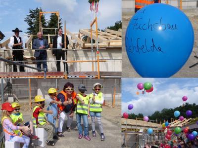 Foto zu Meldung: Richtfest in der Kita Fuchsbau