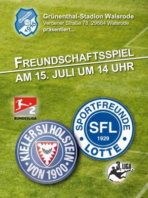 """Foto zur Meldung: Freundschaftsspiel - """"Störche"""" vs Lotte - Germanen Echo - Sonderausgabe online"""