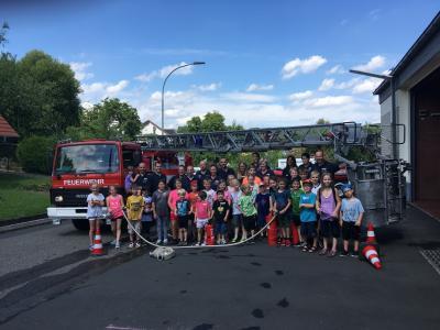 Foto zur Meldung: Ferienspiele bei der Feuerwehr