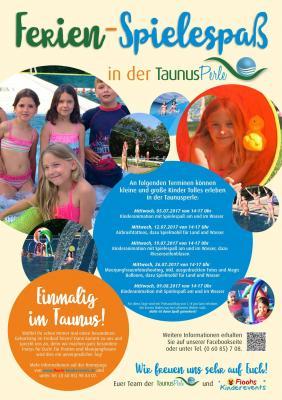 Plakat Ferien-Spielespaß