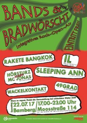 "Vorschaubild zur Meldung: ""Bands und Bradwörscht"" - Kommen. Feiern. Tanzen. Bradwörscht."