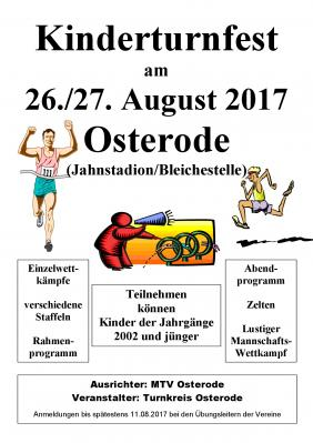 Foto zu Meldung: Kinderturnfest am 26.08.2017 in Osterode am Harz