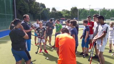 Vorschaubild zur Meldung: Projekttag für Hörgeschädigte im BW-Hockeypark