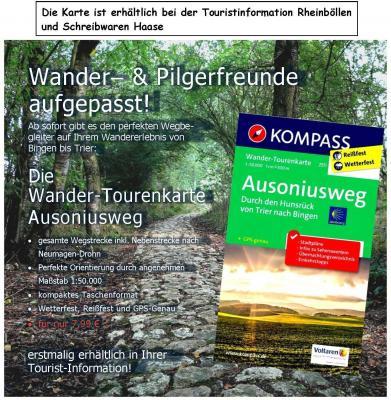 Foto zur Meldung: Neue Wanderkarte für den Ausoniusweg