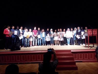 Foto zur Meldung: Erfolgreich Deutsch gelernt: DaZ-Schüler erhalten ihr Deutsches Sprachdiplom