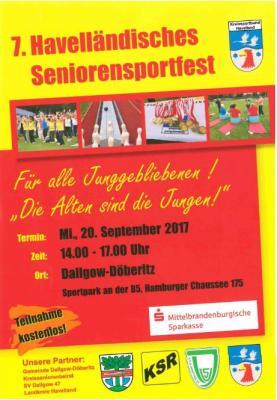 Foto zur Meldung: Kreissportbund Havelland lädt zum 7. Havelländischen Seniorensportfest