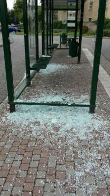 Vorschaubild zur Meldung: Vandalismus-Schaden am Busbahnhof