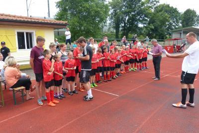 Foto zur Meldung: Wieder ein erfolgreiches Fußballcamp des ESV Lok Falkenberg!