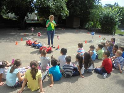 Vorschaubild zur Meldung: Mobilitätserziehung im Kindergarten