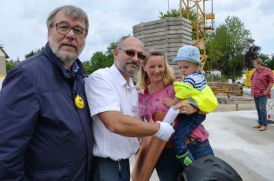 Foto zu Meldung: Grundstein für neue Kita in Germendorf gelegt
