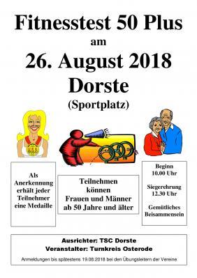 Foto zu Meldung: Fitnesstest 50+ am 26.08.2018 in Dorste (Turnkreis)